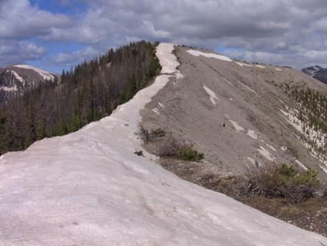 Snow on a ridgeline