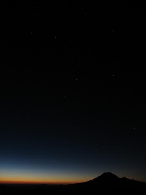 Rainier at Sunset