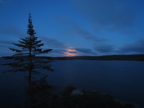 Moonrise on Isle Royale