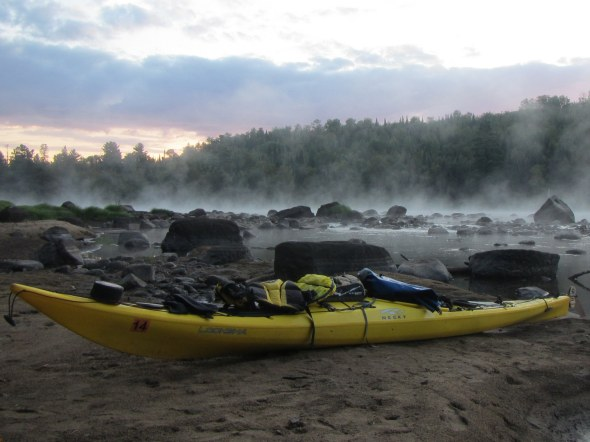 Morning fog on the St. Louis River
