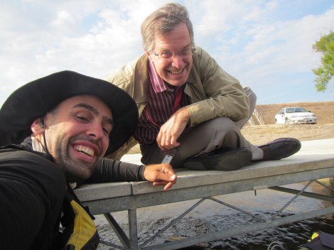 Bob Collins and Me at the Interstate 494 Boat Ramp