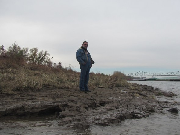 Mike at the Confluence of the Mississippi and Ohio Rivers