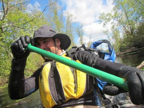 Green Paddle on the Savanna Portage