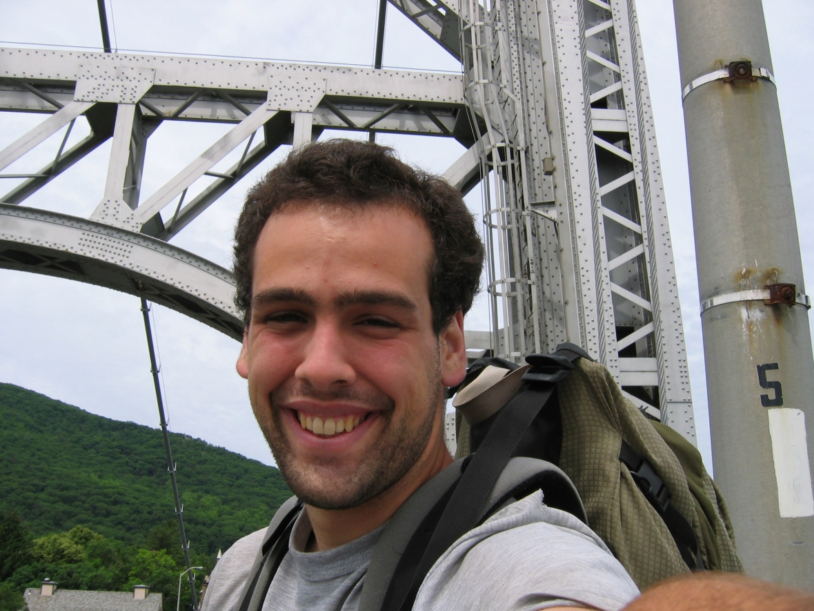 Crossing the Bear Mountain Bridge on AT